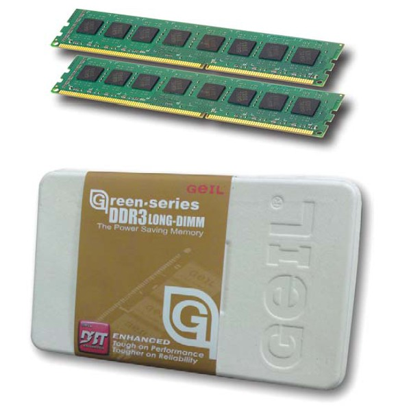 GeIL DDR3 GREEN DUAL CHANNEL