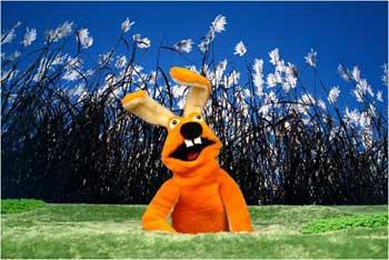 """Gość - w każdym odcinku inny przechodzień przypadkiem trafia na trawy babilonu i mąci w """"spokojnym"""" życiu Reggae Rabbits"""