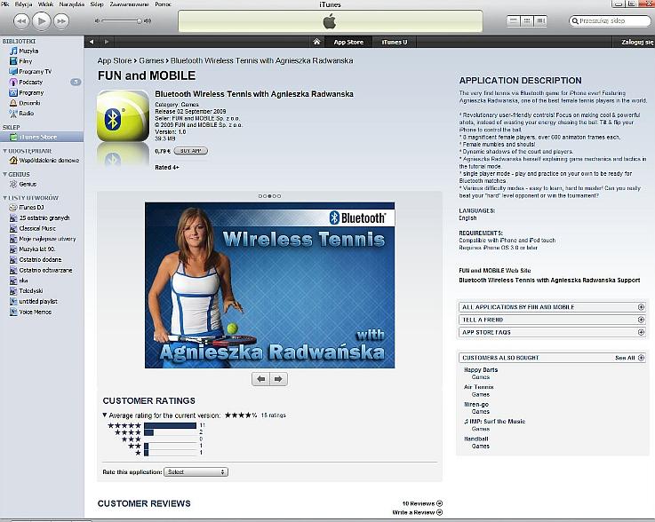 Bluetooth Wireless Tennis with Agnieszka Radwańska