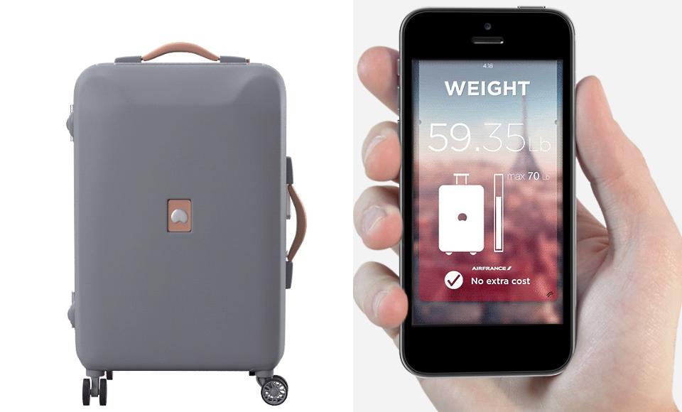 Interaktywna walizka Delsey Plugagge