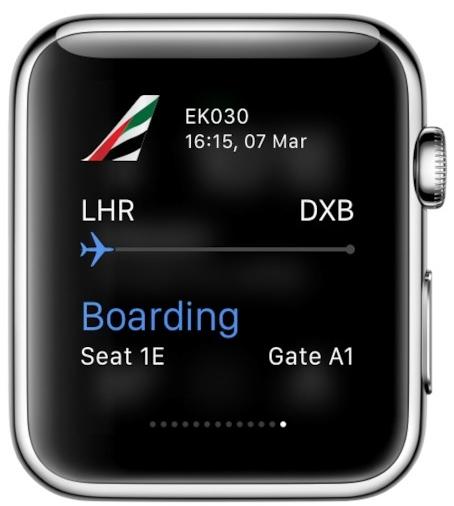 Linie lotnicze Emirates z własną aplikacją na Apple Watch