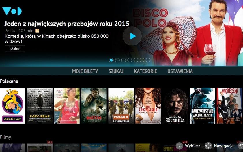Nowa wersja aplikacji VoD.pl na telewizory Samsung Smart TV