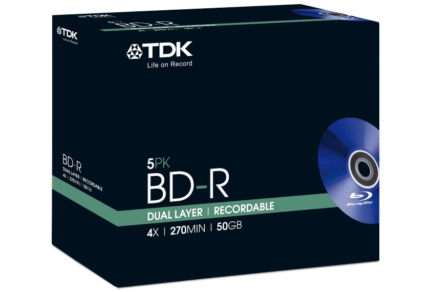 50GB BD-DL od TDK Life on Record