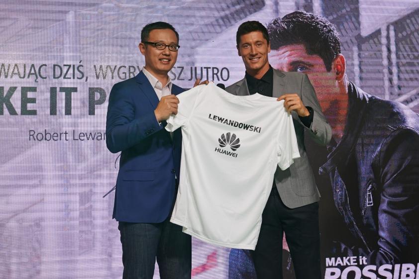 Robert Lewandowski ambasadorem marki Huawei