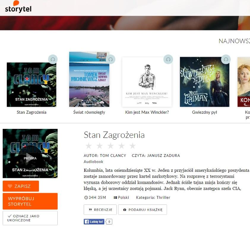 Storytel - steaming audiobooków
