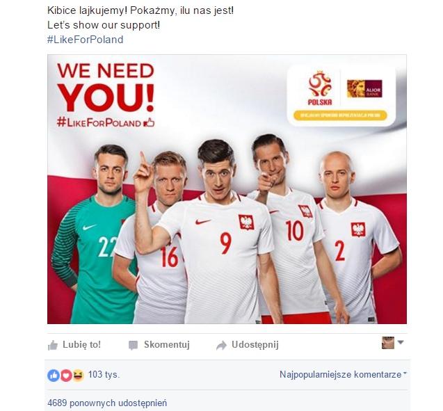 Rekordowy piłkarski post na Facebooku