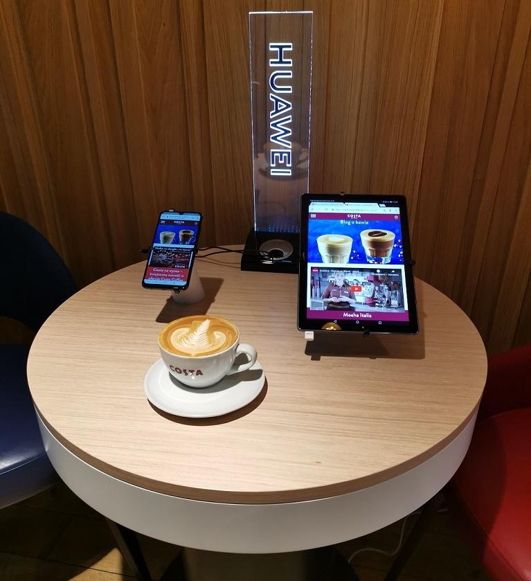 Współpraca Huawei i Costa Coffee